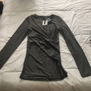 Alexander Wang long sleeve criss-cross top